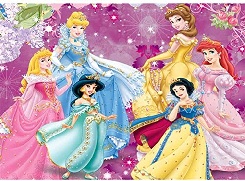 Lanxing 1000 Piezas de un Rompecabezas de Madera for niños, clásico Comics Princesa de Disney Rompecabezas, Stills Animados Cartel, Corte Fino y Corte, Chicas Juguetes del Regalo ( Color : C )