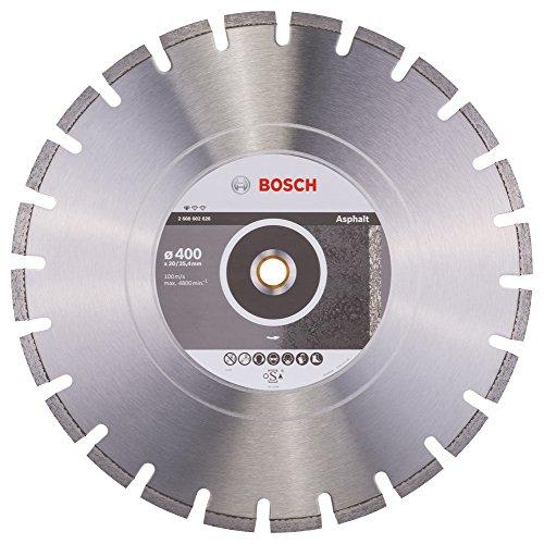 Bosch Professional Diamanttrennscheibe (für Asphalt, Ø: 400 mm, BohrungØ: 20 mm, Zubehör für Benzin- und Tischsägen)