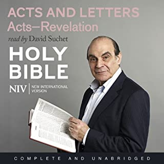 NIV Bible 8     Acts and Letters              By:                                                                                                                                 New International Version                               Narrated by:                                                                                                                                 David Suchet                      Length: 11 hrs and 1 min     48 ratings     Overall 4.9