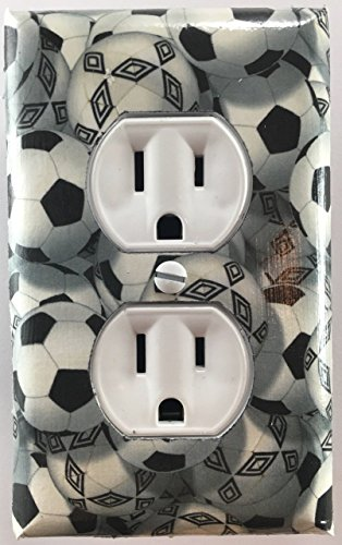 Soccer Balls Sports Decorative Outlet Plate Cover