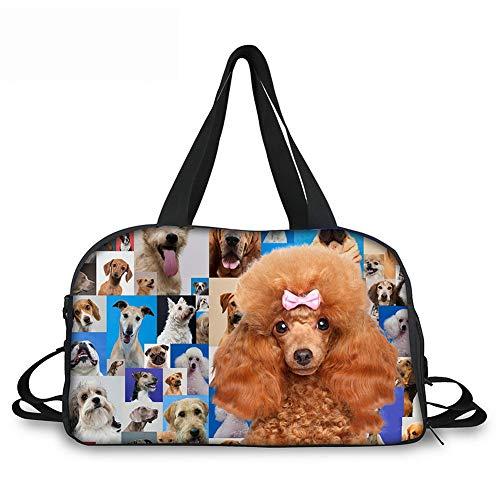 Lolyze Lolyze Custom Bag,Mode Damen Es Travel Taschen Pudel Reisen Schultertasche Tasche Große Kapazität Hund ONE Size