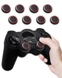Fosmon (Set of 8) Analog Stick Joystick Controller Performance Thumb Grips for PS4, PS3, Xbox ONE, ONE X, ONE S, 360, Wii U (Black and Red)