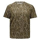 Mossy Oak Men's Standard Camo Hunting T-Shirt Short Sleeve Stretch, Bottomland, Large