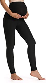 Women's Maternity Leggings Over The Belly Pregnancy Active Workout Yoga Tights Pants