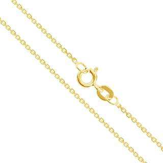 Real 10k/14k Gold Rolo Cable Link Chain Necklace