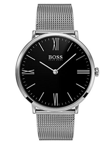 Hugo Boss Herren Datum klassisch Quarz Uhr mit Edelstahl Armband 1513514