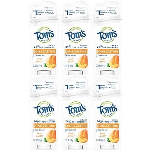 Tom's of Maine Natural Deodorant Stick, Apricot, 2.25-Ounce Stick (Pack of 6) by Tom's of Maine (English Manual)