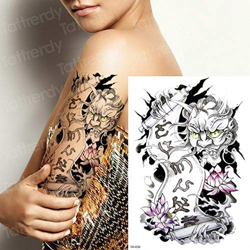 3 Piezas Tatuaje Brazo Manga Esqueleto Tatuaje Hombres Hombro ...