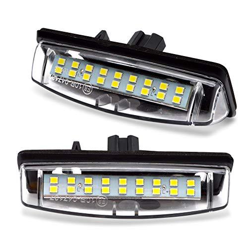 LncBoc LED Luz de la matrícula para coche Lámpara Numero plato luces Bulbos 3W 12V 18SMD con CanBus No hay error 6000K Xenón Blanco frio, 2 Piezas