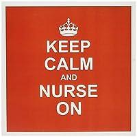 InspirationzStoreタイポグラフィ–Keep Calm and Nurse On–Red Carry On授乳–ジョブ看護師の日ギフト楽しい面白いユーモアモダンスタイリッシュ–グリーティングカード Individual Greeting Card