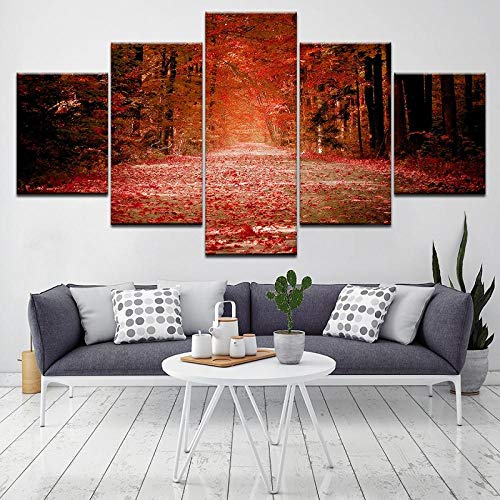 Jia Arte ™ 5 Panel Patriotische Konzept Bilder Für Indoor Golden Flag Militär Gemälde Auf Leinwand Wandkunst Aufhängen Von Postern Und Drucken Modern Artwork Home Decor 150 x 100 CM - 5 Fotos Gedruck