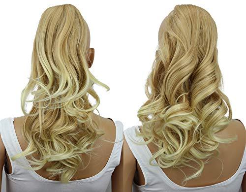 PRETTYSHOP 2 IN 1 30cm Und 40cm Haarteil Zopf Pferdeschwanz Haarverlängerung Voluminös Gewellt Blond Mix H303