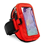 Zippered (Red) Armband for Samsung Galaxy Note 10, 10 Plus, 10 Plus 5G