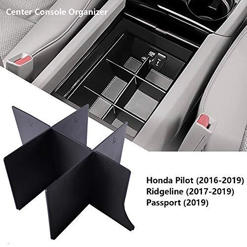 EDBETOS Center Console Organizer Insert for Honda Pilot 2016-2019 2020 2021/ Honda Ridgeline 2017-2021/ Honda Passport 2019-2021 - Honda Console Accessories