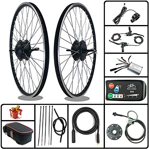 SCHUCK Electric Bike Modification kit is Suitable for 36V/48V 500W 16'/20'/24'/26'/27.5'/28'/29'/700C Rear-Rotate Motor with KT-LED880 Display (36V 350W 16inch)