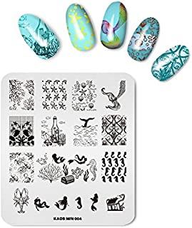 KADS Nail Art Stamping Plate Mermaid Stamping Template Image Plates Nail tattoo DIY decoration Tool