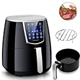 Air Fryer,Vilapur Digital Air Fryer XL with Time Temperature Control,Large LCD Touch Screen, Oil Less Low Fat with 8 Cook Presets 4.2QT, Black