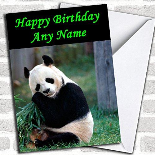 Leuke Panda verjaardagskaart met envelop, kan volledig gepersonaliseerd worden, snel en gratis verzonden