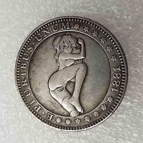 DDTing Best Morgan Silver Dollars – 1881 Hobo Nickel Münze – Old Coin Collecting – Silber-Dollar USA Old Morgan Dollar – überzogene Silbermünzen GoodService
