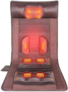 LKNJLL Memory Foam masaje estera con calor, 6 Terapia del cojín de calefacción, 10 de vibración motores de masaje almohadilla del colchón, masaje de cuerpo completo del amortiguador aliviar el cuello,