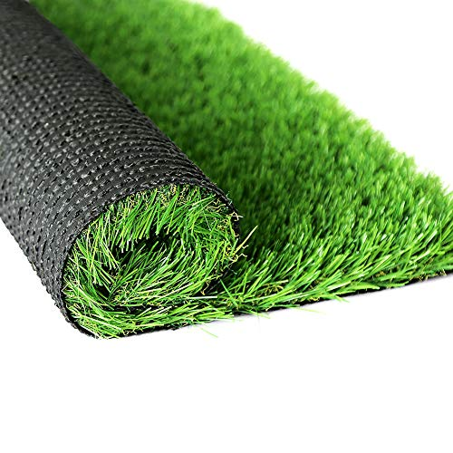 WMG Artificial Grass 3'x5' Outdoor Grass Rug Green Turf for Backyard Décor, Fake Grass Turf for Dogs to Pee On, 2 Pack…