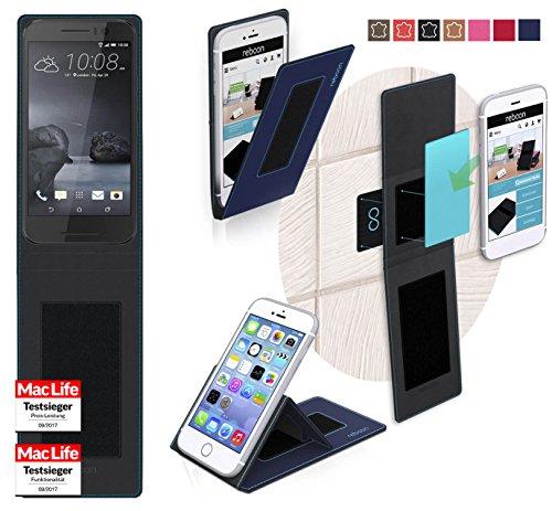 Hülle für HTC One S9 Tasche Cover Hülle Bumper | Blau | Testsieger