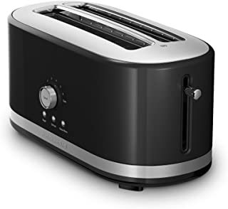KitchenAid KMT4116OB 4 Slice Long Slot Toaster with High Lift Lever, Onyx Black (Renewed)