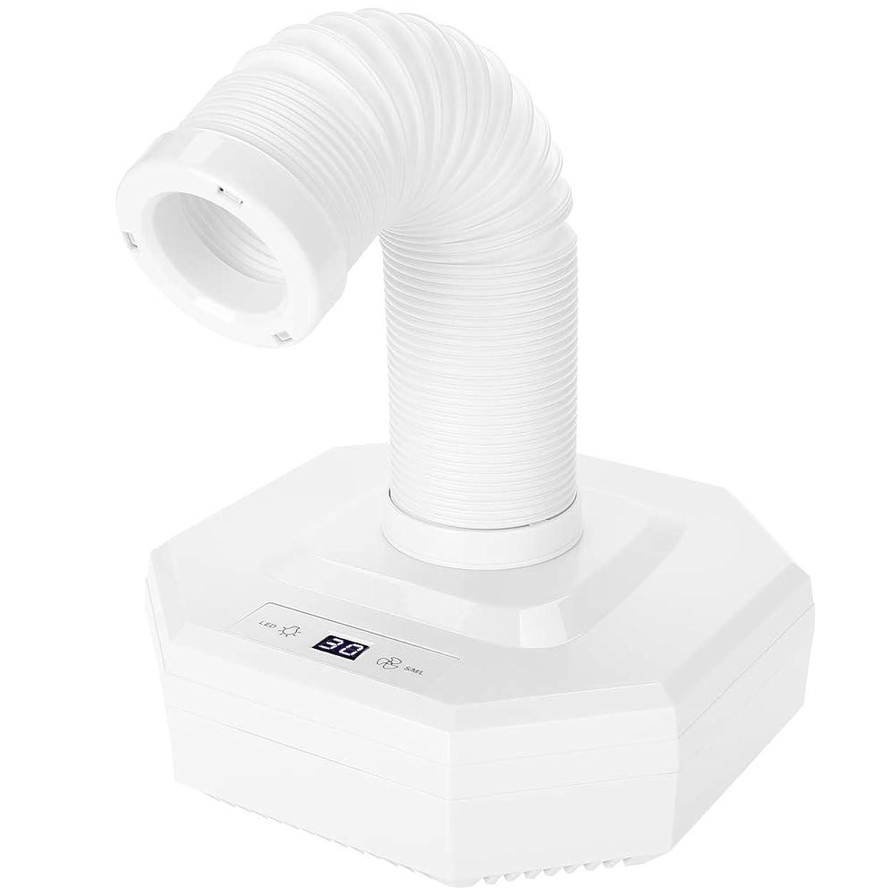 慢主婦層ネイル集塵機、60ワット強力なパワーマニキュア吸引掃除機用サロンuvジェルアクリルアートペディキュアツール(白)