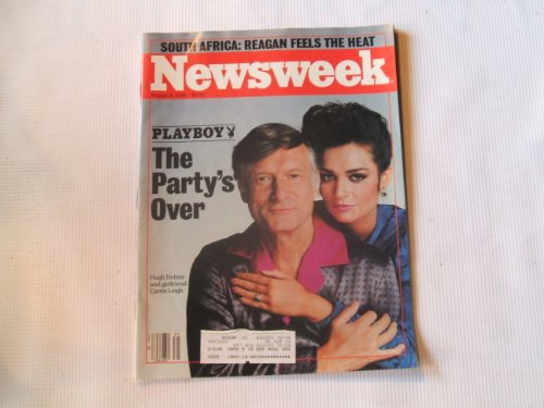 Vintage Newsweek Magazine August 4th 1986 Issue Hugh Hefner Playboy the Party's Over (PLAYBOY THE PARTY'S OVER)