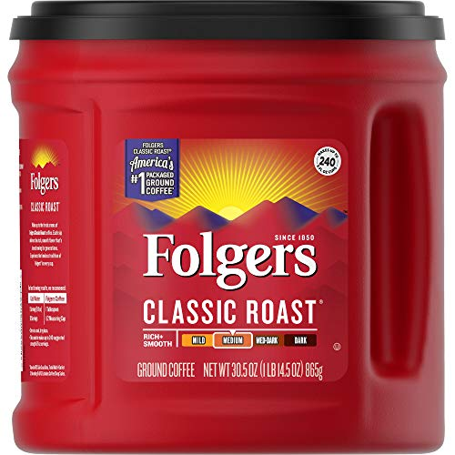 Folgers Classic Roast Ground Coffee, Medium Roast, 30.5 oz