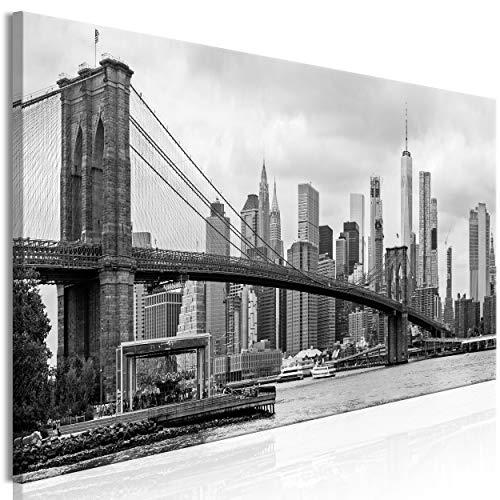 decomonkey Bilder New York 120x40 cm 1 Teilig Leinwandbilder Bild auf Leinwand Vlies Wandbild Kunstdruck Wanddeko Wand Wohnzimmer Wanddekoration Deko Stadt Panorama Architektur
