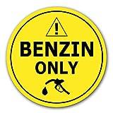 10x Adesivi Solo Benzina Ø 7cm Etichettatura dei Carburanti per Uso Interno o Esterno con Protezione UV Resistente alle Itemperie Segnale di Obbligo di STROBO