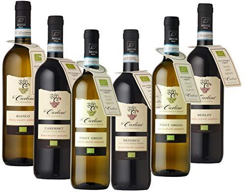 Selezione vini senza solfiti aggiunti Le Carline biologici e vegani