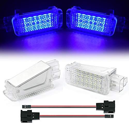 TFWYYJ 2Pcs LED Footwell Boot Under Door Courtesy Light Luggage Trunk Glove box Lamps For Audi TT A3 S3 A4 S4 A5 RS6 A1 A2 A8 A5 A6 S6 (Emitting Color : Charm Blue)