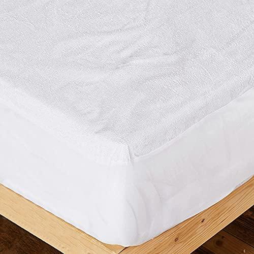 Dalina Textil - Coprimaterasso impermeabile e traspirante - Poliestere letto 60 cm - 120 x 60 + 15 cm