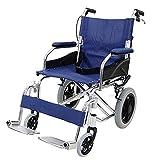 車椅子 アルミ合金製 青 約10kg TAISコード取得済 背折れ 軽量 折り畳み 介助用 介助ブレーキ付き 携帯バッグ付き ノーパンクタイヤ 折りたたみ コンパクト 軽い 背折れ式 介助用 介助 車椅子 車イス 車いす ブルー wheelchairb63blue
