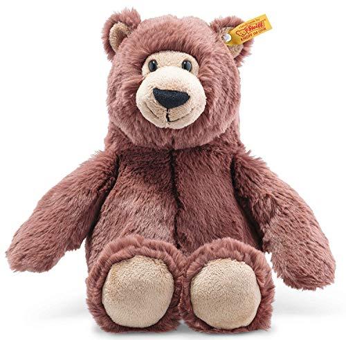 Steiff Bella Bär, Original Plüschtier 30 cm, Plüschbär Teddy sitzend, Kuscheltier für Kinder, Soft Cuddly Friends, Schmusetier zum Spielen & Kuscheln, waschbar, Stofftier rotbraun (113840)
