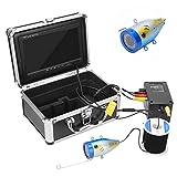 Telecamera da pesca subacquea portatile da 7 pollici IP68 Fish Finder Cam Kit videocamera subacquea impermeabile con 12 LED bianchi Cavo da 50 m per lago, barca, pesca in mare(Spina UE)