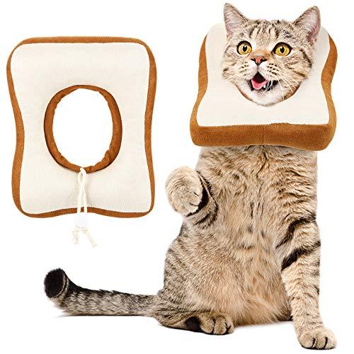 baratos y buenos Collar de gato electrónico ajustable, 2 piezas, lindo collar de pan … calidad