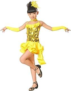 f76a3b7914a K-youth Ninas Borla Latino Vestido De Baile Vestido Danza Latina Niña Traje  Baile Tango