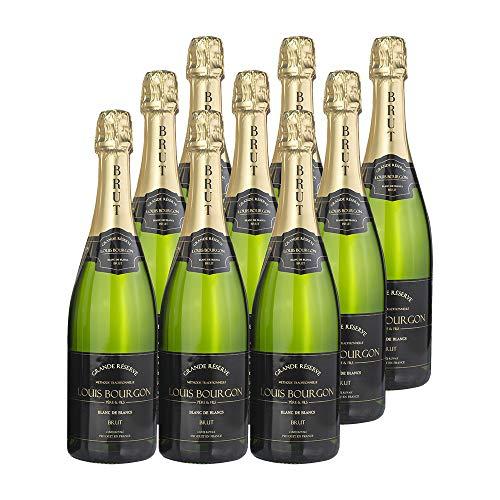 Pack Louis Bourgon Grande Réserve Blanc de Blancs Brut | 9 botellas| 0,75L