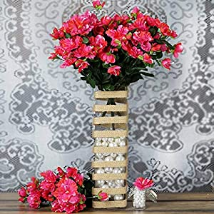 DN_HOM Wonderful 120 pcs Silk Gardenia Flowers for Wedding Centerpieces Arrangements Bouquets (Fuchsia)