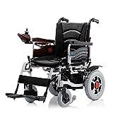 HDGZ 2019 Nuevas sillas de Ruedas eléctricas Transporte amigable Silla de Ruedas eléctrica Plegable Ligera para Adultos (Negro), Negro