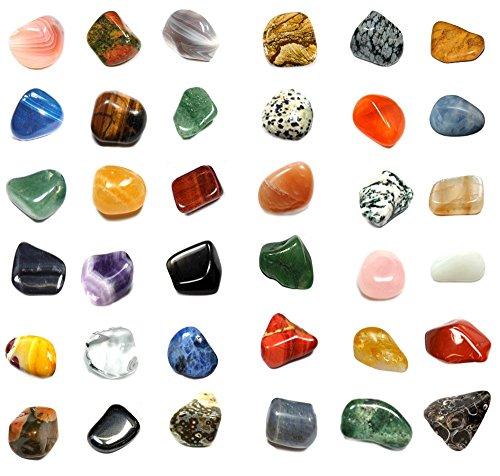 Colección 36secadora Gemstone Natural Set ideal regalo con cristal limpieza spray