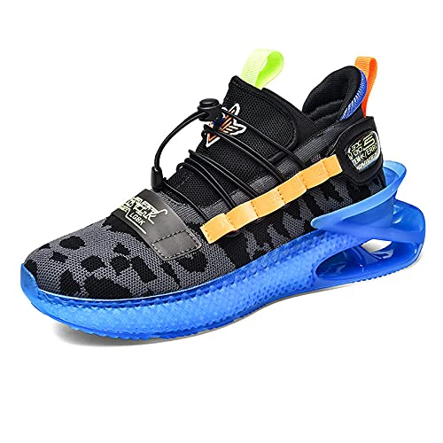 BAIDEFENG Casual Sneakers,Zapatillas Deportivas tridimensionales Ligeras, Zapatillas Tenis cómodas y refrescantes-Azul Oscuro_42