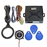BANVIE Car Alarm System RFID Push Engine Start Button & Keyless Go System for Vehicle Anti-Thief Double Layer Start Protection