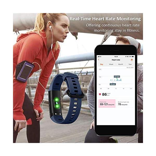 HONOR Band 5 Pulsera Actividad Inteligente Pulsera de Actividad con Pulsómetro SpO2 Sueño Podómetro Monitor de Actividad… 3