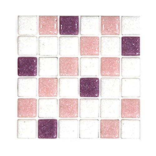 シール式モザイクタイルシート デコレ[ミックス金平糖 10枚セット] コスモス 1枚サイズ:15cm×15cm Z3K