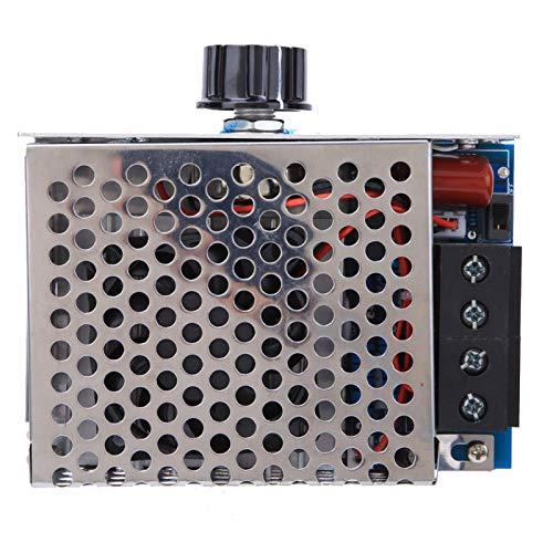 Pusokei Växelspänningsregulatordimmer med förbättrad fläkt, 10 000 W elektronisk superhögpresterande tyristorspänningsregulator med aluminiumhölje, för värmetråd, pannvärmekontroll