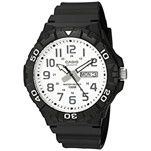 Casio watches Casio Men's 'Diver Style' Quartz Resin Casual Watch, Color:Black (Model: MRW-210H-7AVCF)